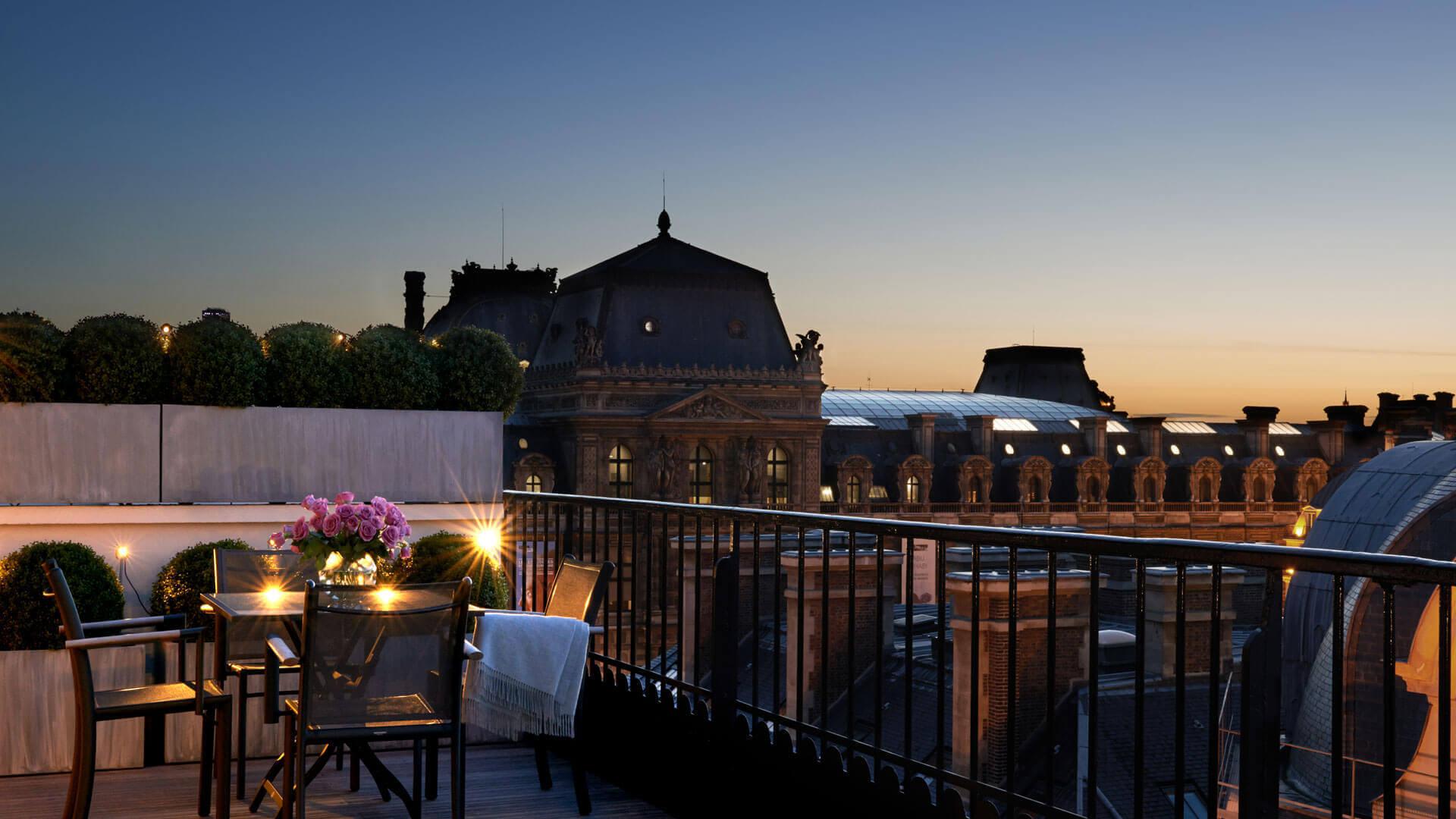 Vue panoramique, chambre d'hôtel, Grand hôtel du Palais Royal, Paris 1st