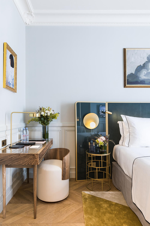 Chambre Supérieure, bleu détail, Grand Powers, hôtel, Paris 8ème