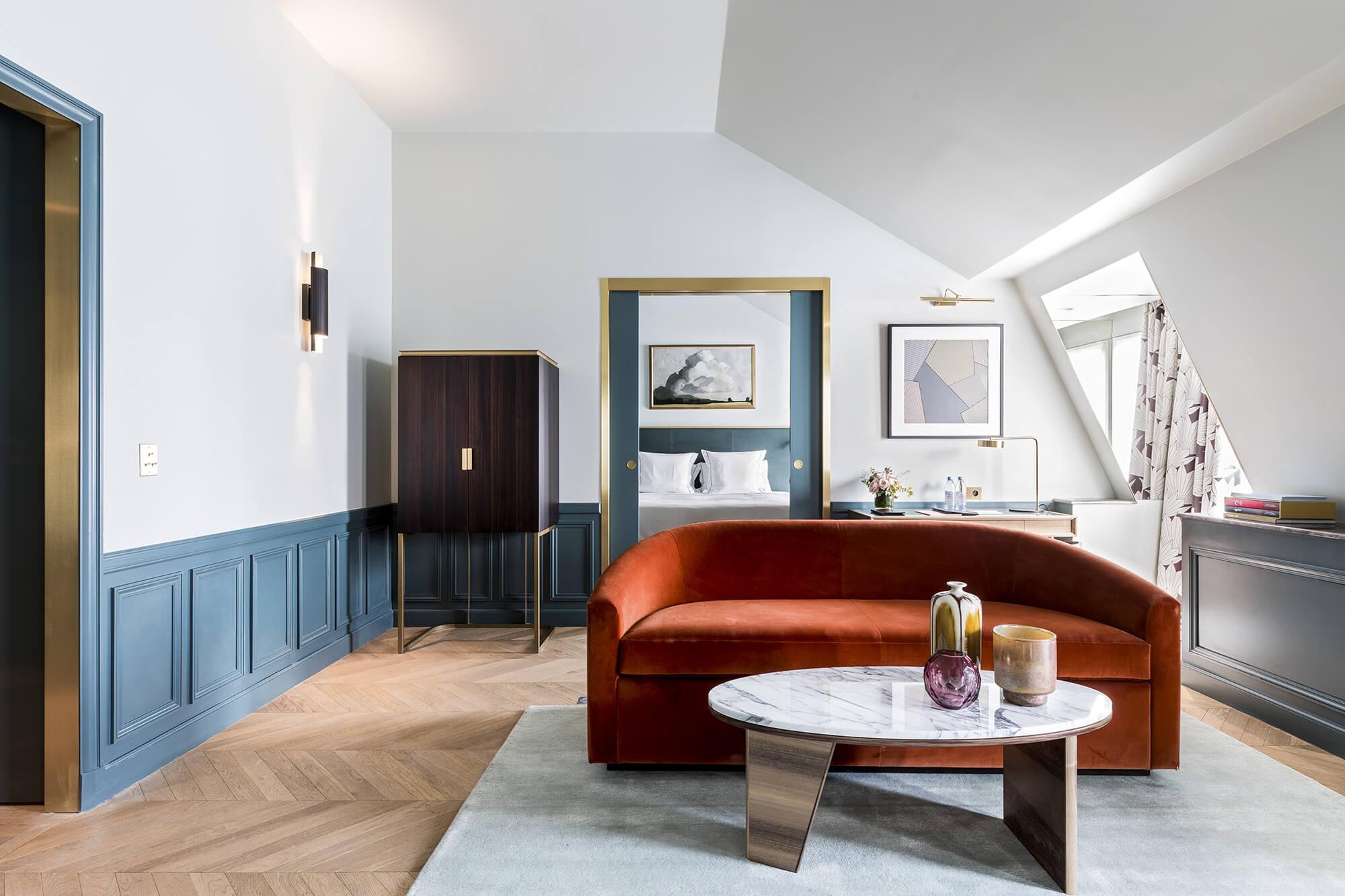 Suite Elégante, vue, Grand Powers, hôtel, Paris 8ème