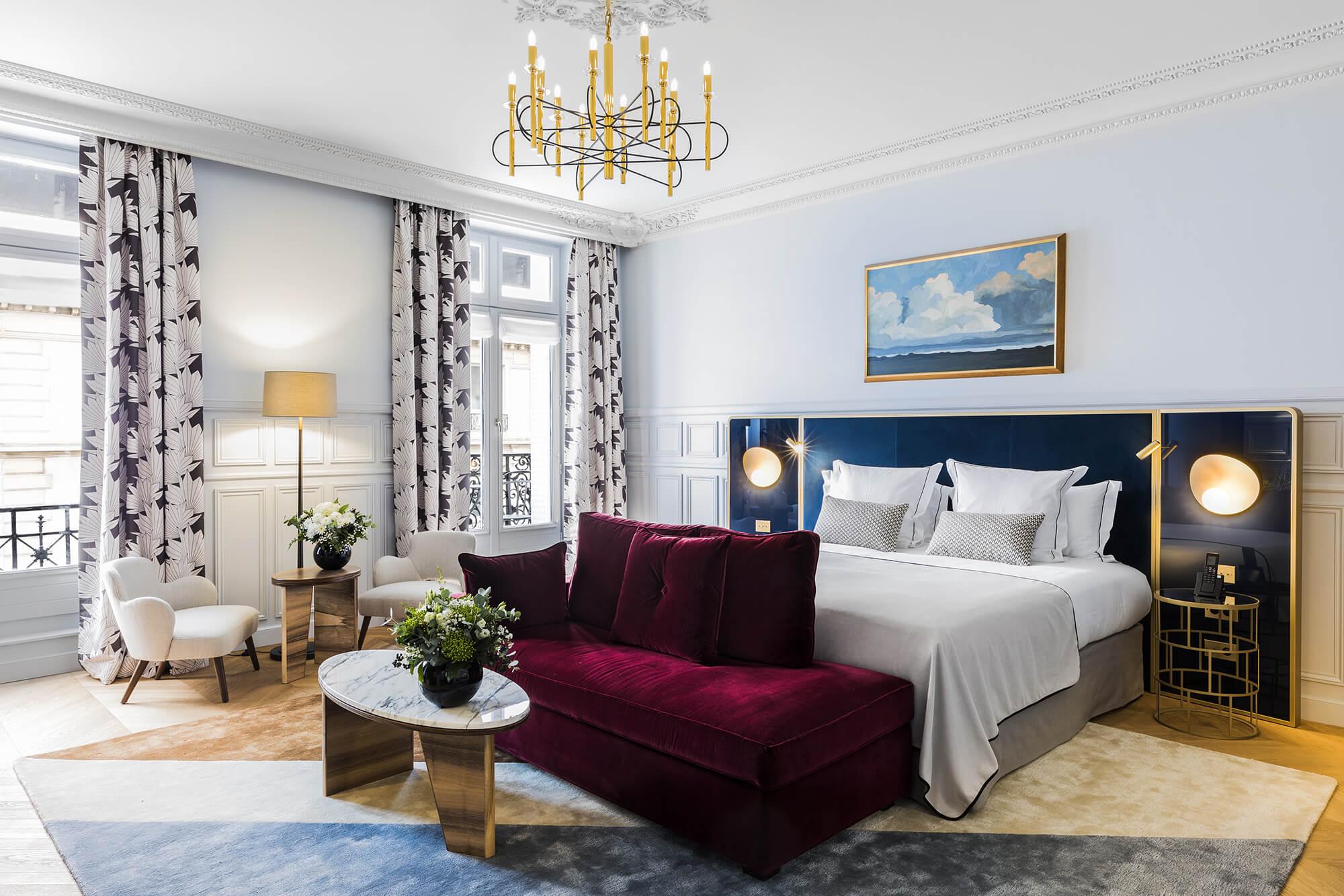 Junior Suite Prestige, vue, Grand Powers, hotel, Paris 8ème
