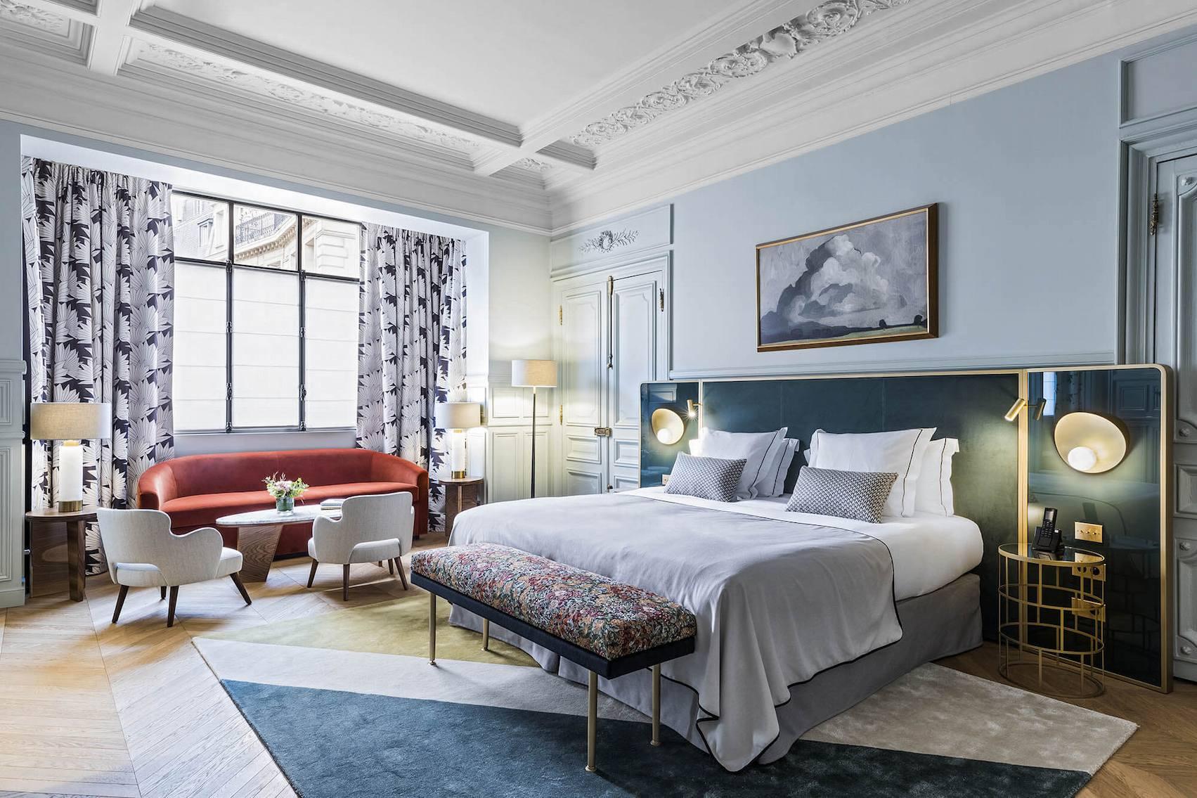 Junior Suite bleu, vue, Grand Powers, hotel, Paris 8ème