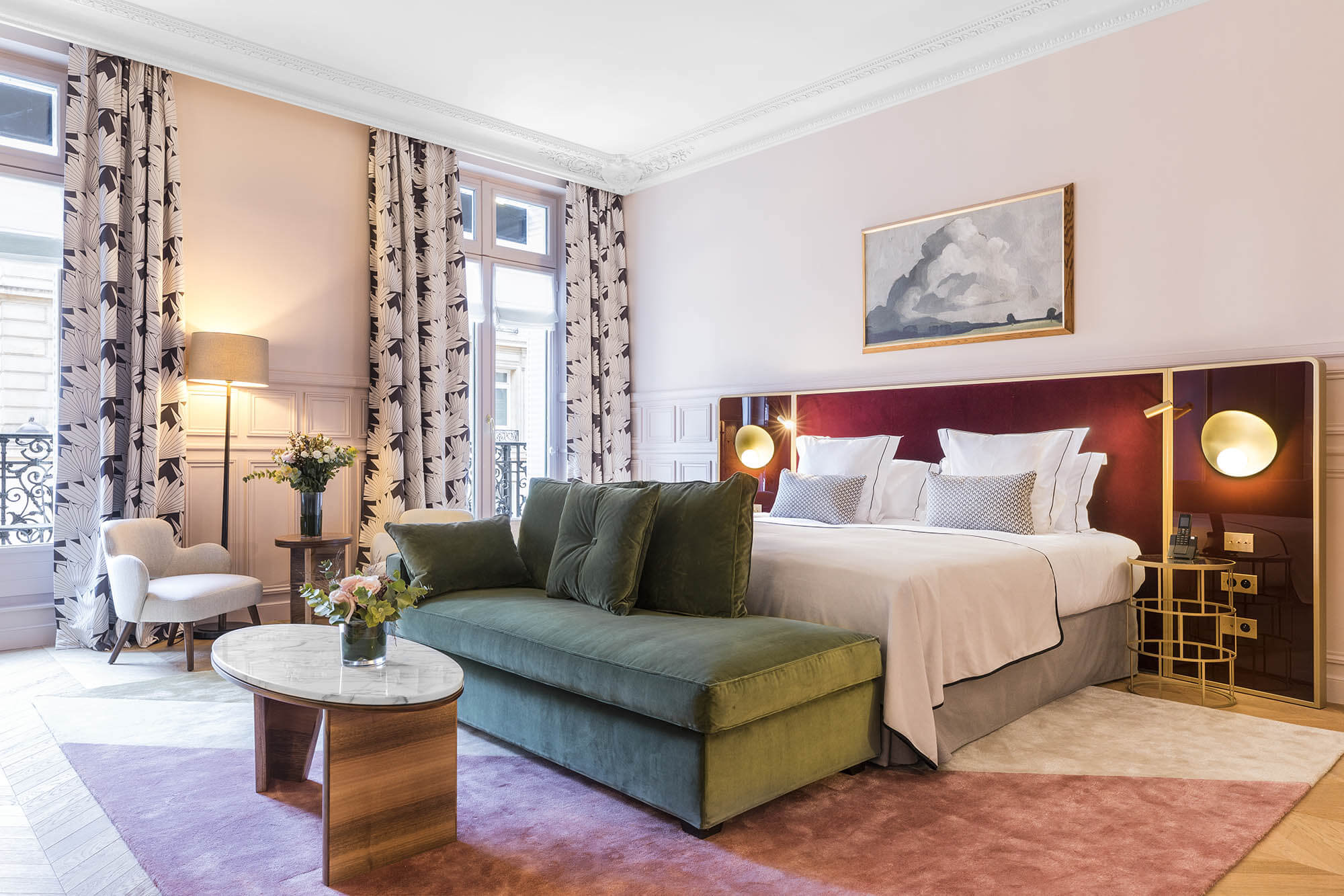 Pink Junior Suite, overview, Grand Powers, hotel, Paris 8th