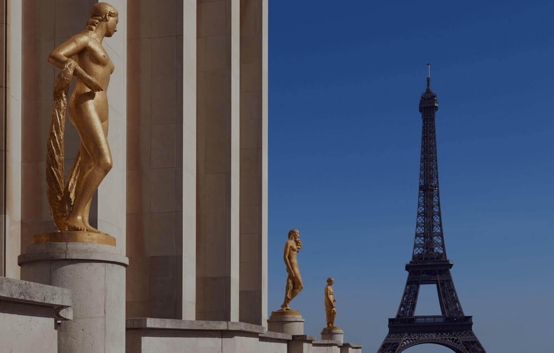 Вид на Трокадеро, гостиничный номер, Hotel Plaza Tour Eiffel, Париж 16ème