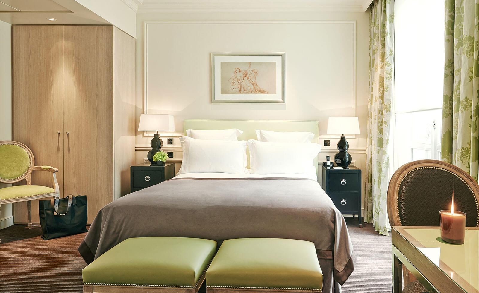 Quarto Deluxe, cama, Grand Hôtel du Palais Royal, Paris 1er
