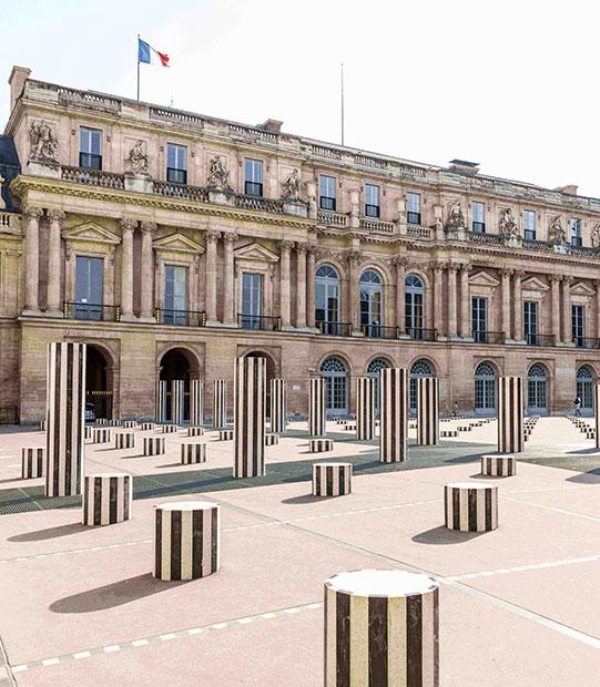 Buren Columns, Grand Hôtel du Palais Royal, Paris 1st
