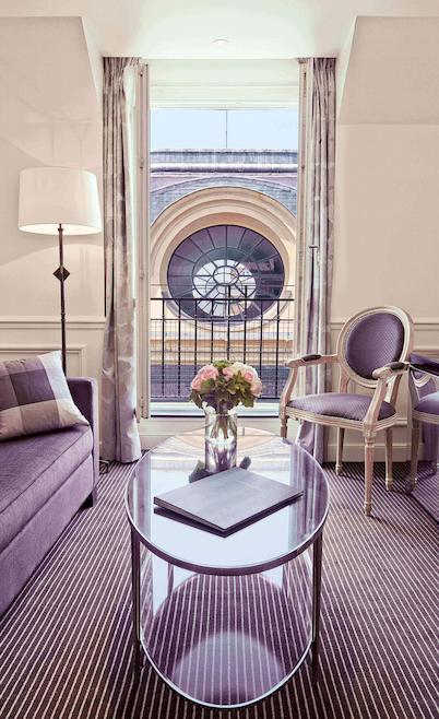 Junior suite , living room, Grand Hôtel du Palais Royal, Paris 1st
