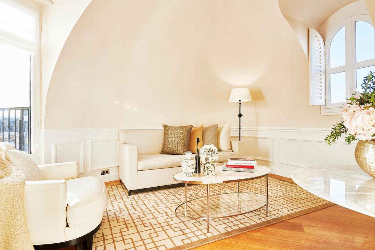 Suite Palais Royal, duplex, salon, Grand Hôtel du Palais Royal, Paris 1er