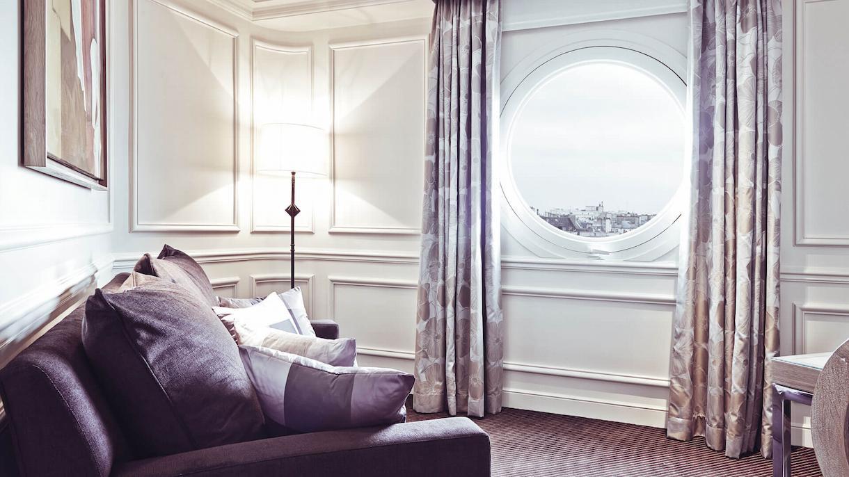 Junior suite prestige, living room, Grand Hôtel du Palais Royal, Paris 1st